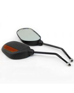 Oval Bike Mirrors with Reflectors - Pair